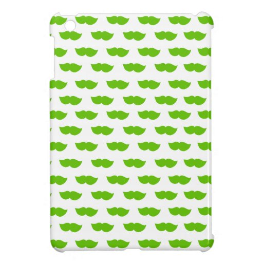Green Moustaches Case For The iPad Mini