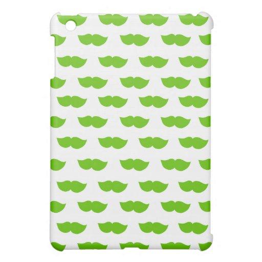 Green Moustaches iPad Mini Covers