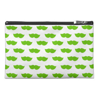 Green Moustaches Travel Accessory Bag