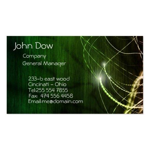 Green movement business card template