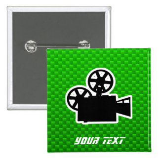 Green Movie Camera Pins