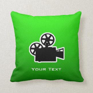 Green Movie Camera Pillow