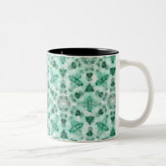 "Green mug with abstract pattern ""kaleidoscope"""