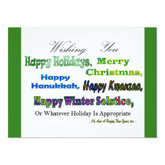 Green Multi holiday greetings Announcement