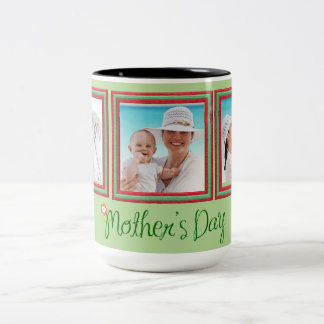 Green Multi-Photo Gift Mug for Mum