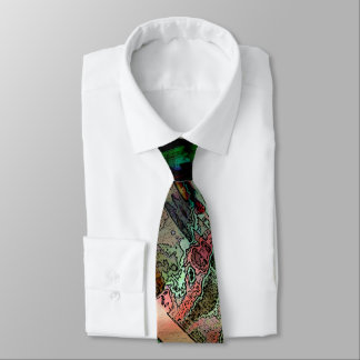Green Multicolored Tie