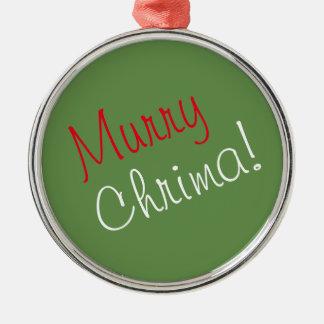 "Green ""Murry Chrima"" Ornament"