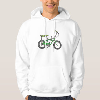Green Muscle Bike Hooded Pullovers