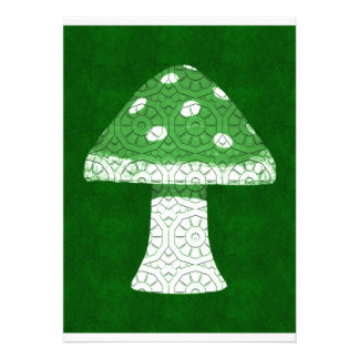 Green Mushroom Custom Announcement