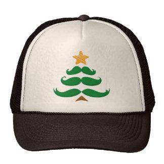 Green Mustache Tree Hats