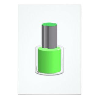 Green Nail Polish Personalized Invite