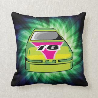 Green Nascar Cushion