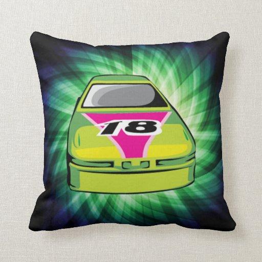 Green Nascar Pillows