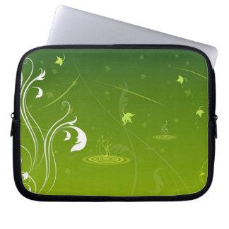 green nature laptop sleeve