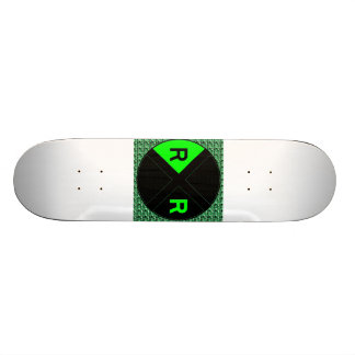 Green Neon And Black Sign 20 Cm Skateboard Deck