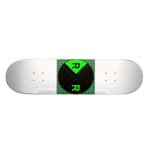 Green Neon And Black Sign Custom Skateboard