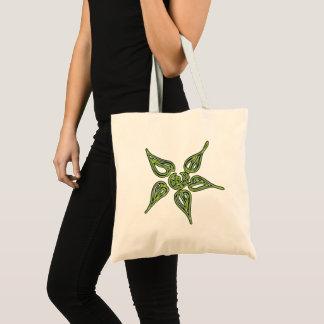 Green Neon Flower Tote Bag