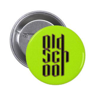 Green Neon Old School Pins