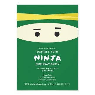 Green Ninja Party Invitation