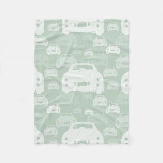 Green Nissan Figaro silhouette fleece blanket