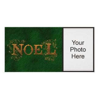 Green Noel Holiday Photo Photo Cards