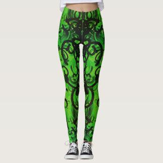 Green Noodles Leggings