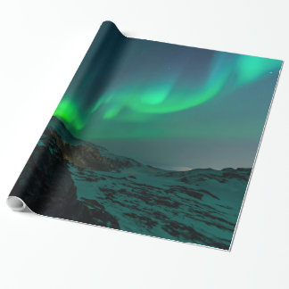 Green Northern Lights Wrapping Paper