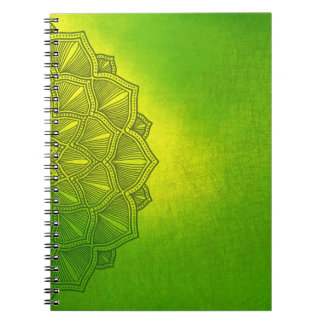 Green Notebook with side pattern