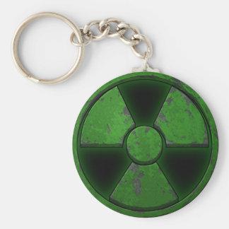 Green Nuke Basic Round Button Key Ring