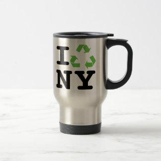 Green NY Travel Mug