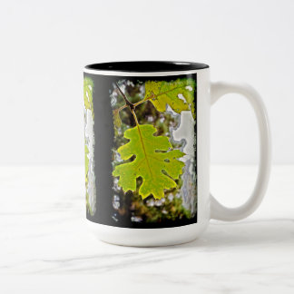 Green Oak Leaf HDR Two-Tone Mug