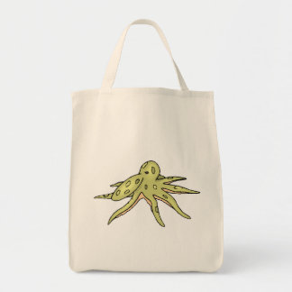 Green Octopus Tote Bags