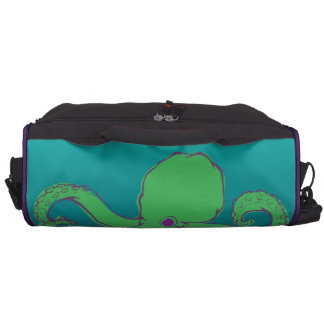 Green Octopus Computer Bag