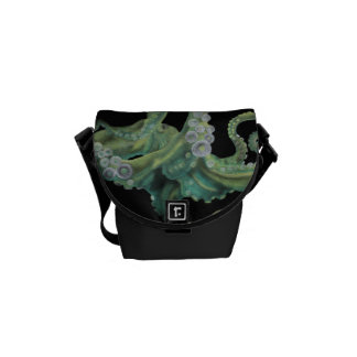 Green Octopus Messenger Bag
