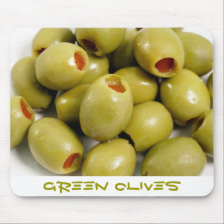 Green olives mouse pad