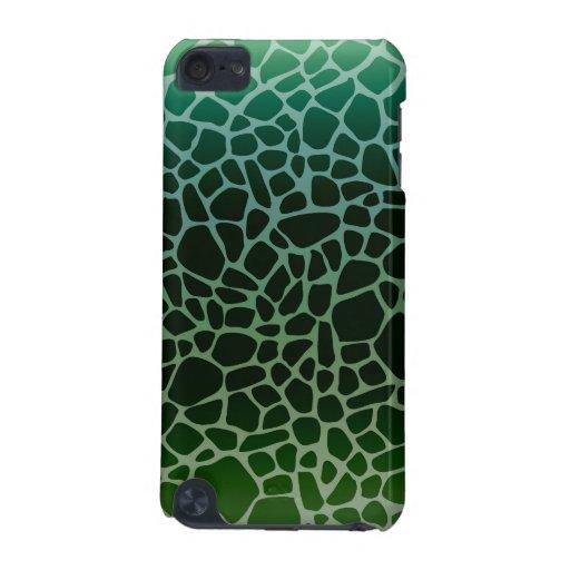 Green Ombre Giraffe Print iPod Touch 5G Cover