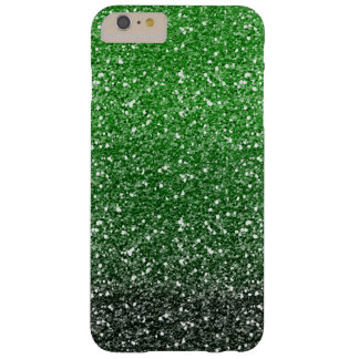 Green Ombre Glitter Effect Barely There iPhone 6 Plus Case