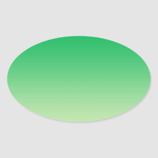 Green Ombre Oval Sticker