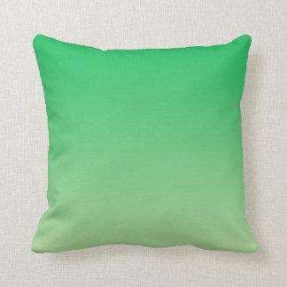 """""""Green Ombre"""" Throw Pillow"""