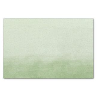 Green Ombre Watercolor Tissue Paper