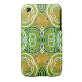 Green Orange Abstract Pattern iPhone 3 Case-Mate Case