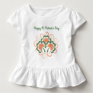 Green Orange Clover Swirl St. Patricks Day Toddler T-Shirt
