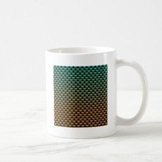 Green Orange Geometric Gradient Coffee Mug