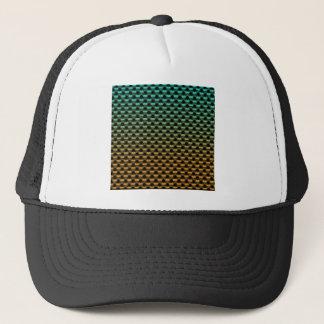 Green Orange Geometric Gradient Trucker Hat