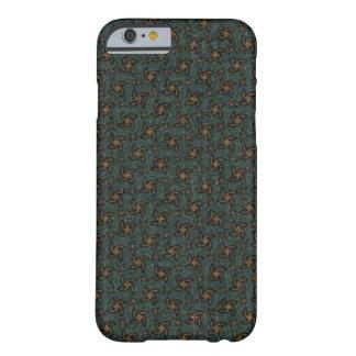 Green & Orange Spiral iPhone Case