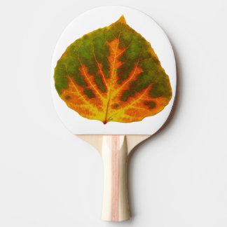 Green Orange & Yellow Aspen Leaf #1 Ping Pong Paddle