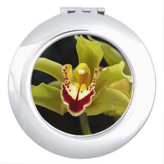 Green Orchid Compact Mirror