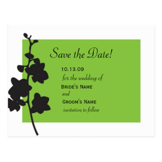 Green Orchid Save the Date Postcard