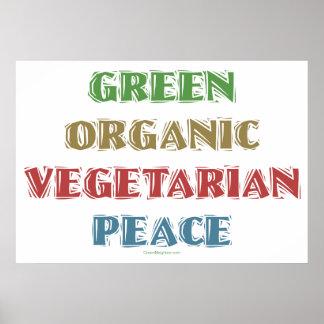 Green Org Veg Peac Print