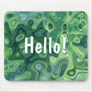 Green Organic Pattern Abstract Art Mouse Pad